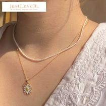 【justLoveR.】Jeanne Daisy パールネックレスset (gold/silver)