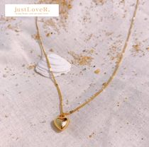 【justLoveR.】heart shape necklace (gold/silver)
