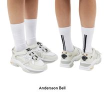【Andersson Bell】White Runner Sneakers 男女兼用★