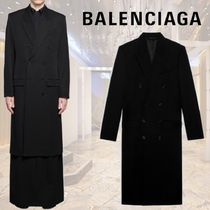 BALENCIAGA CAPPOTTO FITTED DOUBLE BREASTED コート ブラック