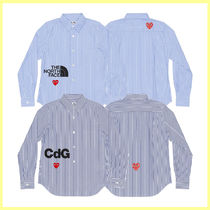 COMME des GARCONSXTHE NORTH FACE/CdG コラボ ストライプシャツ