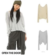 日本未入荷★OPEN THE DOOR★casual stripe hood (2 color)