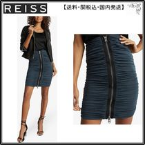 【海外限定】REISS スカート☆Tamara zip-through ruched chiffo