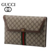 20AW☆Gucci☆GG Supreme OPHIDIA クラッチバッグ BEIGE×ACERO