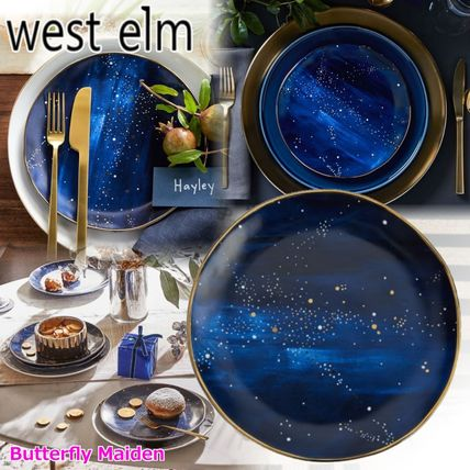 west elm 食器(皿) :: West elm ::4枚セット 星空のお皿 Constellation Salad Plate