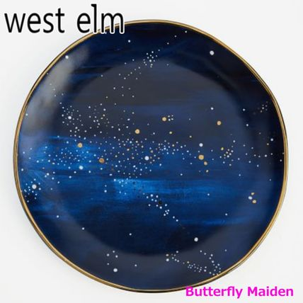 west elm 食器(皿) :: West elm ::4枚セット 星空のお皿 Constellation Salad Plate(2)