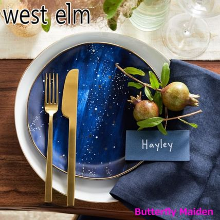 west elm 食器(皿) :: West elm ::4枚セット 星空のお皿 Constellation Salad Plate(3)