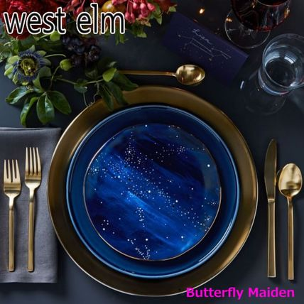 west elm 食器(皿) :: West elm ::4枚セット 星空のお皿 Constellation Salad Plate(4)