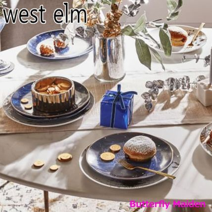 west elm 食器(皿) :: West elm ::4枚セット 星空のお皿 Constellation Salad Plate(6)
