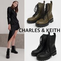 Charles & Keith Lace Up Combat Boots 送料・関税込み
