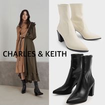 CHARLES & KEITH Stacked Heel Ankle Boots 送料・関税込み