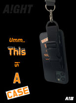 ★AIGHT★THIS IS A CASE バックルストラップケース/iphone