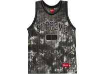 FW20 SUPREME DYED BASKETBALL JERSEY BLACK S-XL タンクトップ
