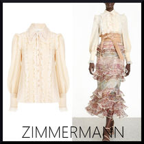 関税送料込【Zimmermann】LUCKY LACE COLLAR SHIRT