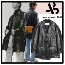 ★ANDERSSON BELL★FAUX LEATHER RAW-CUT JACKET★ジャケット★