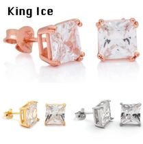 送料込 King Ice☆STERLING SILVER PRINCESS STUDピアス