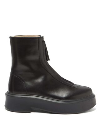 The Row ショートブーツ・ブーティ BOOTSは今入手しないと★2020 THE ROW Zipped Boot 1 in Leather(2)