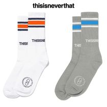 ★thisisneverthat★日本未入荷 韓国 CPT-Logo Striped Socks