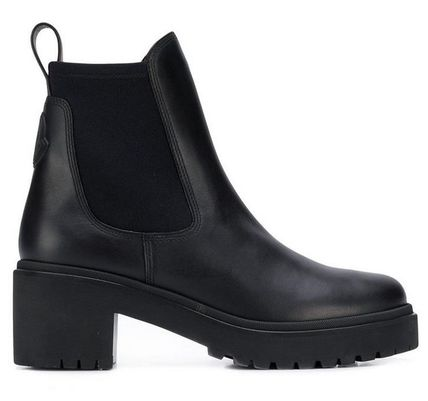 MONCLER ミドルブーツ MONCLER★ VERA leather ankle boots black【関税込EMS謝恩品】(2)