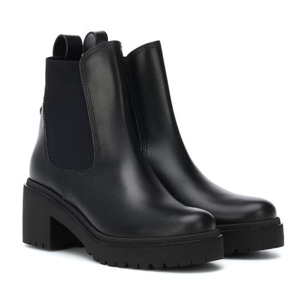 MONCLER ミドルブーツ MONCLER★ VERA leather ankle boots black【関税込EMS謝恩品】(5)
