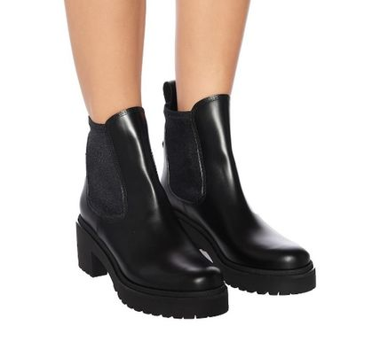 MONCLER ミドルブーツ MONCLER★ VERA leather ankle boots black【関税込EMS謝恩品】(6)