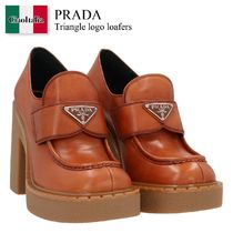 Prada Triangle logo loafers