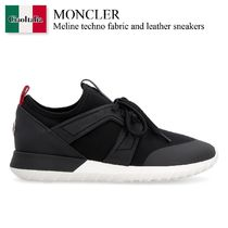 Moncler Meline techno fabric and leather sneakers
