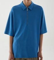 """COS(コス) ポロシャツ """"COS MEN"""" LYOCELL OVERSIZED POLO SHIRT BLUE"""
