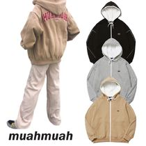 【muahmuah】Signature Line Hood Zip-up ジップアップ 3色