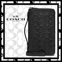 ★COACH★Double Zip Travel Organizer★シグネチャー柄レザー★
