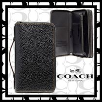 ★COACH★Double Zip Travel Organizer★バッファロー型押レザー