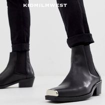 ASOS DESIGN★chelsea boots☆COOLなメタリックトゥ♪