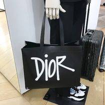 """☆Dior☆""""DIOR AND SHAWN"""" ロゴ♪トートバッグ*Black"""