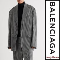 【国内発送】Balenciaga ブレザー Oversized Checked Wool-Blend