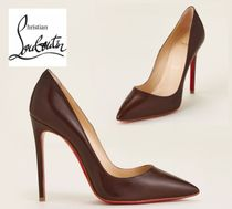 CHRISTIAN LOUBOUTIN☆Wood So Kate 120 Leather Pumps