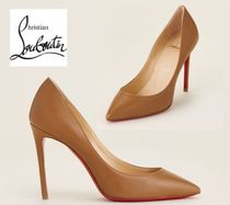 CHRISTIAN LOUBOUTIN☆Bark Pigalle Pointed Toe Leather Pumps