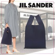 【JIL SANDER】Wool and leather tote