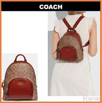 【COACH】Carrie Backpack 23 In Signature Canvas◆キャンバス