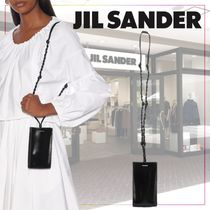 【JIL SANDER】Tangle leather phone pouch 487915