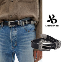 ◇ Andersson Bell ◆UNISEX WESTERN LEATHER BELT