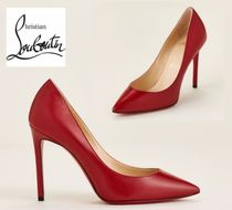CHRISTIAN LOUBOUTIN☆Red Pigalle Pointed Toe Leather Pumps