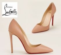 CHRISTIAN LOUBOUTIN☆Nude So Kate 120 Leather Pumps