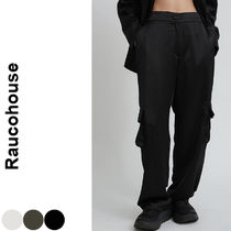 Raucohouse(ラウコハウス)★ Wide Silky Cargo Pants