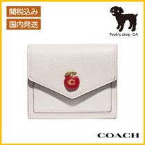 【COACH】Small Wallet With Apple Print◆国内発送◆