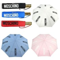 【Moschino】関送込 Couture ロゴ Gold 折りたたみ傘