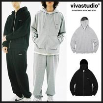 ◆VIVASTUDIO◆ BASIC LOGO HOODIE ZIP UP (2色) 男女兼用 人気