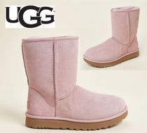 UGG☆Pink Crystal Classic Short II Shearling-Lined Boots
