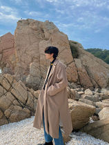 [ ASCLO ] ASCLO String Double Coat (Black, Khaki, Beige)