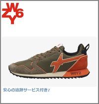 W6YZ(ウィズ) スニーカー 注目[W6YZ]jet-m.sneaker insuede and technical fabric militar