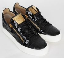 GIUSEPPE ZANOTTI★クロコ柄 leather sneakers black(EMS関税込)